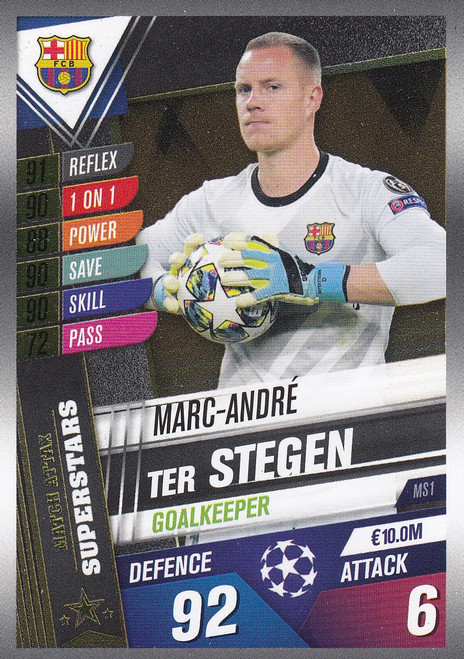 #MS1 Marc-Andre Ter Stegen (FC Barcelona) Match Attax 101 2019/20 MATCH ATTAX SUPERSTARS