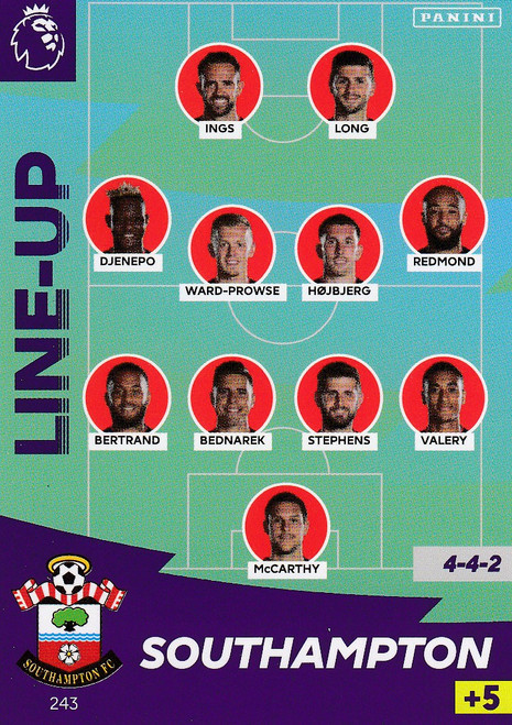 #243 Line Up (Southampton) Adrenalyn XL Premier League 2020/21