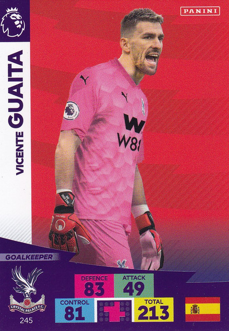 #245 Vicente Guaita (Crystal Palace) Adrenalyn XL Premier League 2020/21