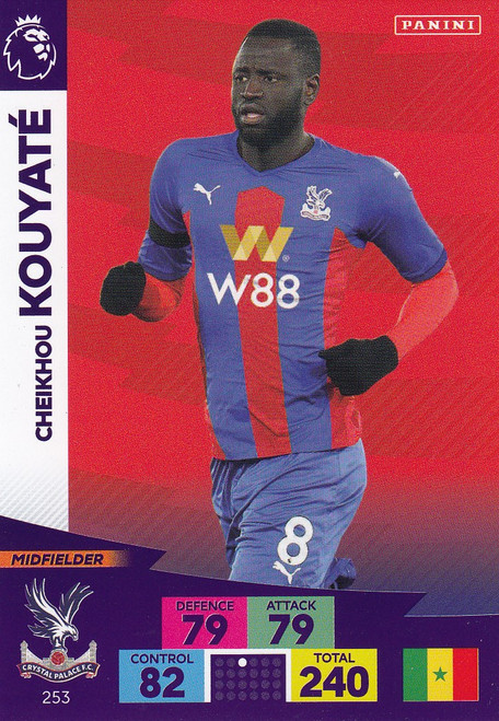 #253 Cheikou Kouyate (Crystal Palace) Adrenalyn XL Premier League 2020/21
