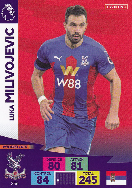 #256 Luka Milivojevic (Crystal Palace) Adrenalyn XL Premier League 2020/21