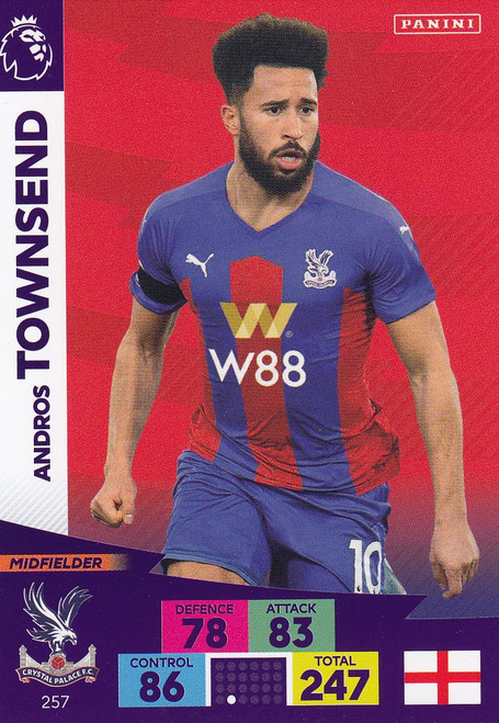 #257 Andros Townsend (Crystal Palace) Adrenalyn XL Premier League 2020/21