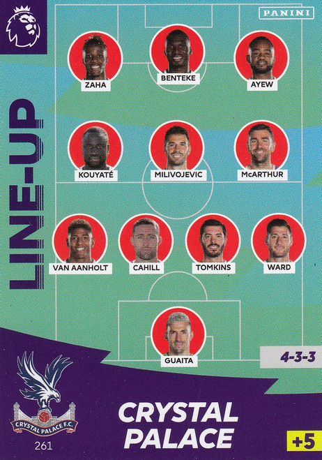#261 Line Up (Crystal Palace) Adrenalyn XL Premier League 2020/21