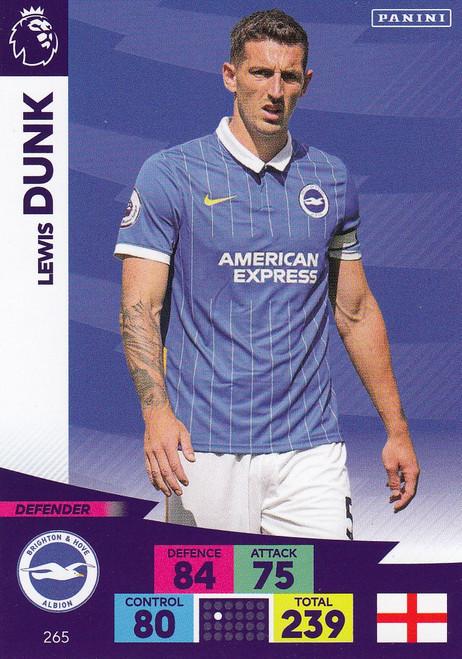 #265 Lewis Dunk (Brighton & Hove Albion) Adrenalyn XL Premier League 2020/21