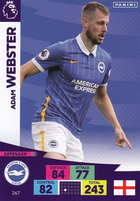#267 Adam Webster (Brighton & Hove Albion) Adrenalyn XL Premier League 2020/21