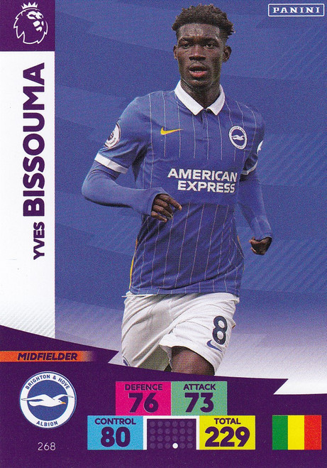 #268 Yves Bissouma (Brighton & Hove Albion) Adrenalyn XL Premier League 2020/21