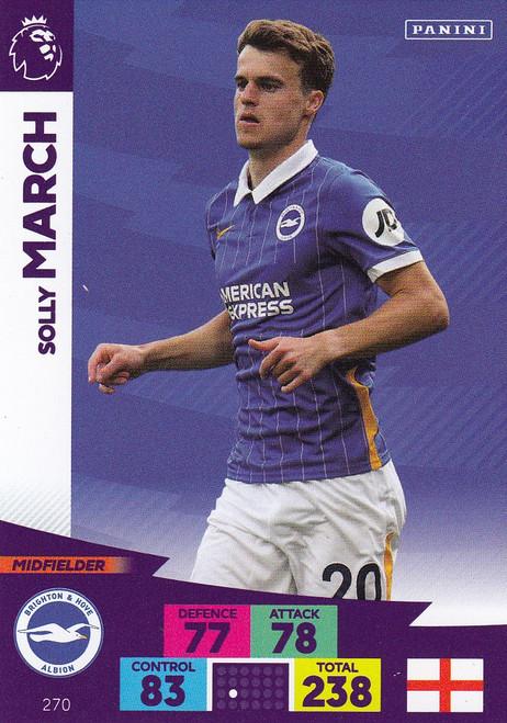 #270 Solly March (Brighton & Hove Albion) Adrenalyn XL Premier League 2020/21