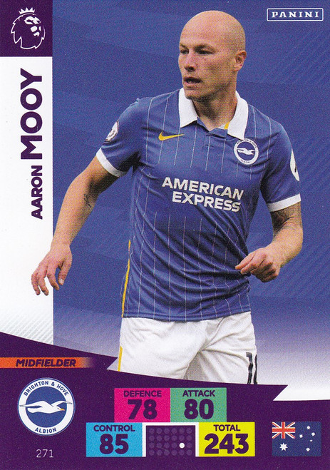 #271 Aaron Mooy (Brighton & Hove Albion) Adrenalyn XL Premier League 2020/21