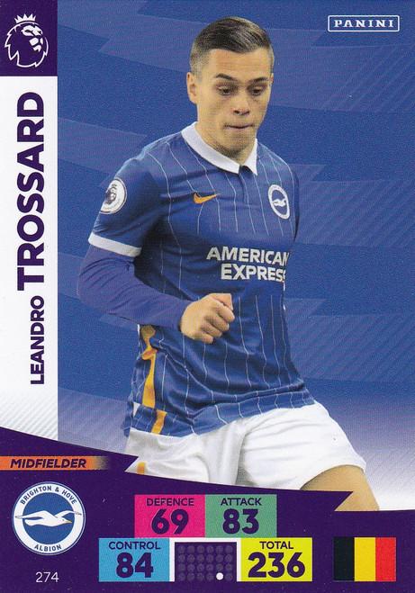 #274 Leandro Trossard (Brighton & Hove Albion) Adrenalyn XL Premier League 2020/21