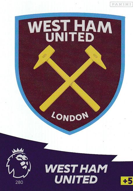 #280 Club Badge (West Ham United) Adrenalyn XL Premier League 2020/21