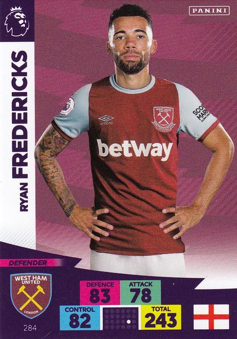 #284 Ryan Fredericks (West Ham United) Adrenalyn XL Premier League 2020/21