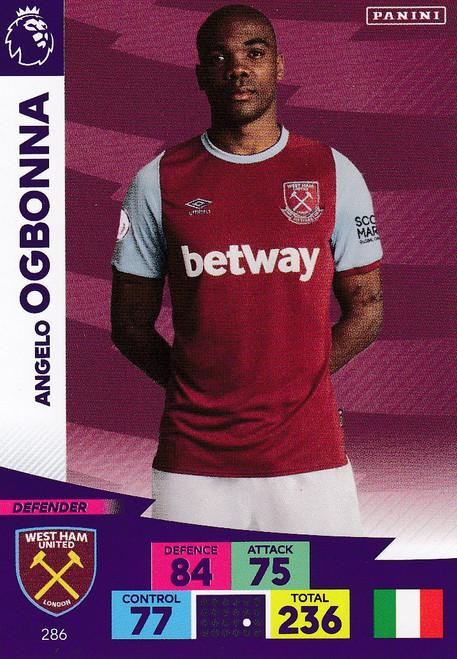 #286 Angelo Ogbonna (West Ham United) Adrenalyn XL Premier League 2020/21