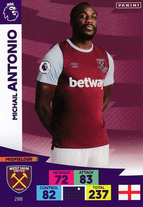 #288 Michail Antonio (West Ham United) Adrenalyn XL Premier League 2020/21