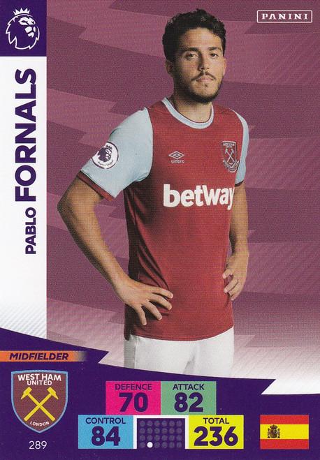 #289 Pablo Fornals (West Ham United) Adrenalyn XL Premier League 2020/21
