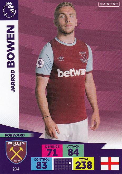 #294 Jarrod Bowen (West Ham United) Adrenalyn XL Premier League 2020/21