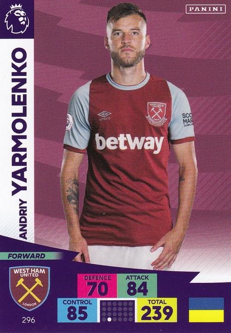 #296 Andriy Yarmolenko (West Ham United) Adrenalyn XL Premier League 2020/21