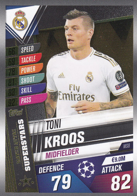 #MS8 Toni Kroos (Real Madrid CF) Match Attax 101 2019/20 MATCH ATTAX SUPERSTARS