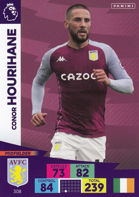 #308 Conor Hourihane (Aston Villa) Adrenalyn XL Premier League 2020/21