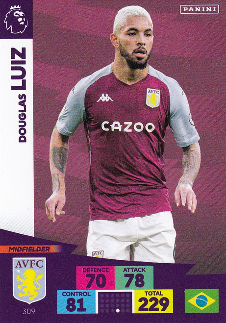 #309 Douglas Luiz (Aston Villa) Adrenalyn XL Premier League 2020/21