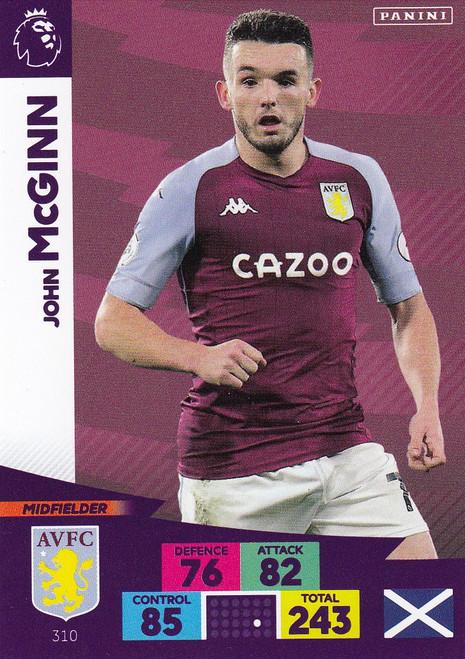 #310 John McGinn (Aston Villa) Adrenalyn XL Premier League 2020/21
