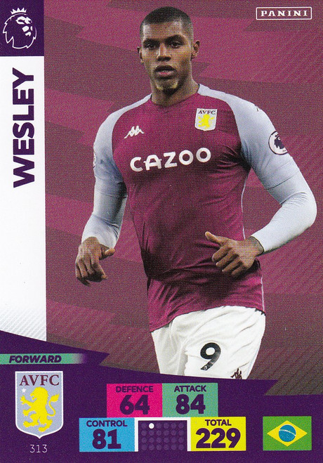 #313 Wesley Moraes (Aston Villa) Adrenalyn XL Premier League 2020/21