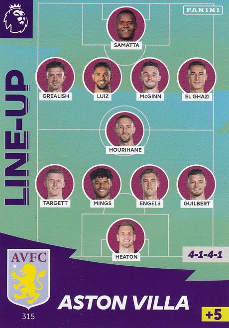 #315 Line Up (Aston Villa) Adrenalyn XL Premier League 2020/21