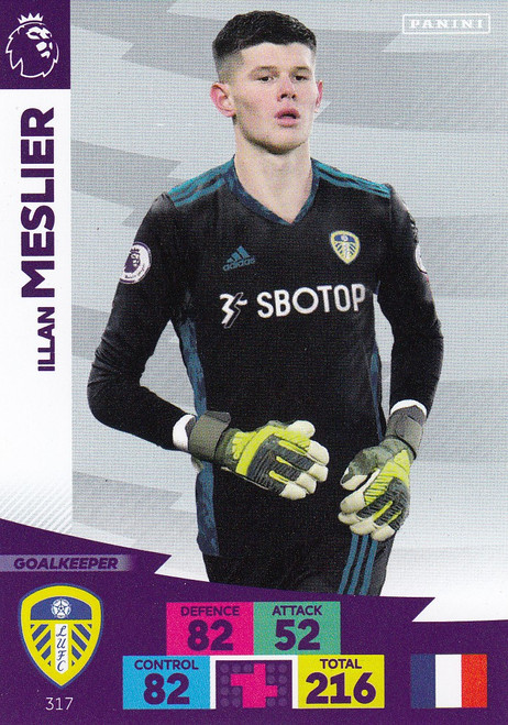 #317 Illan Meslier (Leeds United) Adrenalyn XL Premier League 2020/21