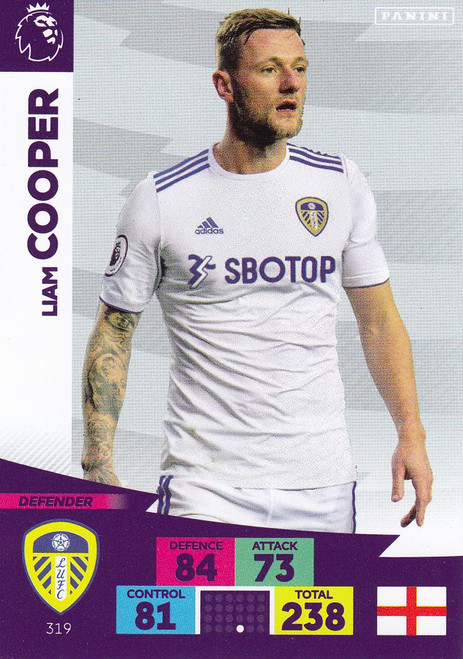 #319 Liam Cooper (Leeds United) Adrenalyn XL Premier League 2020/21