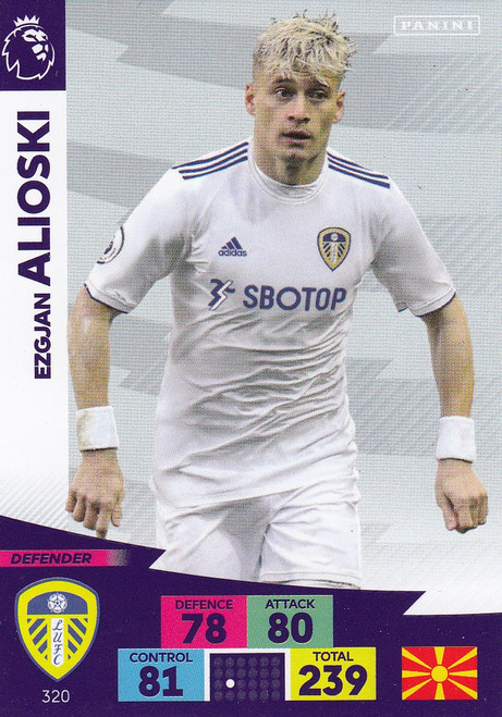 #320 Ezgjan Alioski (Leeds United) Adrenalyn XL Premier League 2020/21