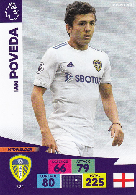 #324 Ian Poveda (Leeds United) Adrenalyn XL Premier League 2020/21