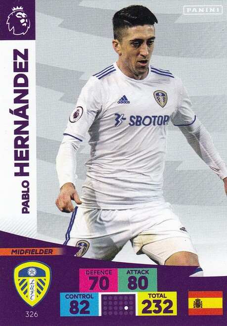 #326 Pablo Hernandez (Leeds United) Adrenalyn XL Premier League 2020/21