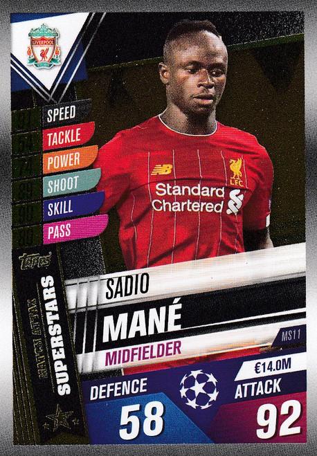#MS11 Sadio Mane (Liverpool FC) Match Attax 101 2019/20 MATCH ATTAX SUPERSTARS