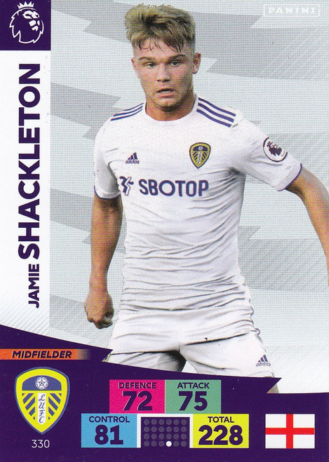 #330 Jamie Shackleton (Leeds United) Adrenalyn XL Premier League 2020/21