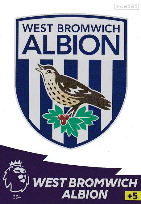 #334 Club Badge (West Bromwich Albion) Adrenalyn XL Premier League 2020/21