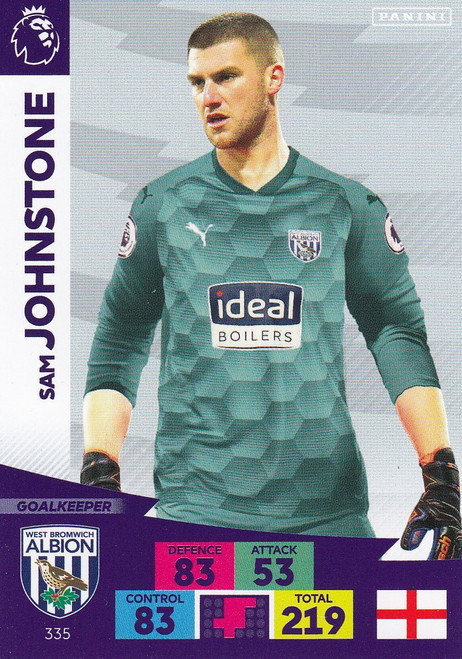 #335 Sam Johnstone (West Bromwich Albion) Adrenalyn XL Premier League 2020/21
