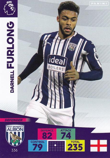 #336 Darnell Furlong (West Bromwich Albion) Adrenalyn XL Premier League 2020/21