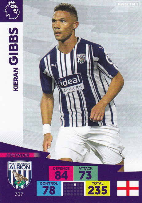 #337 Kieran Gibbs (West Bromwich Albion) Adrenalyn XL Premier League 2020/21