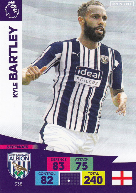 #338 Kyle Bartley (West Bromwich Albion) Adrenalyn XL Premier League 2020/21