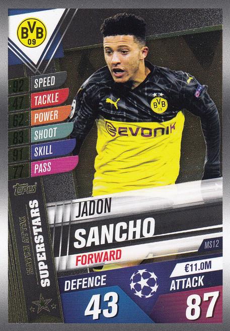 #MS12 Jadon Sancho (Borussia Dortmund) Match Attax 101 2019/20 MATCH ATTAX SUPERSTARS