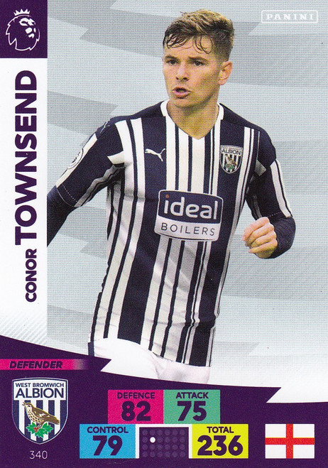 #340 Conor Townsend (West Bromwich Albion) Adrenalyn XL Premier League 2020/21