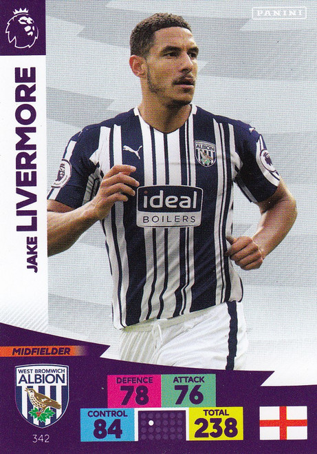 #342 Jake Livermore (West Bromwich Albion) Adrenalyn XL Premier League 2020/21