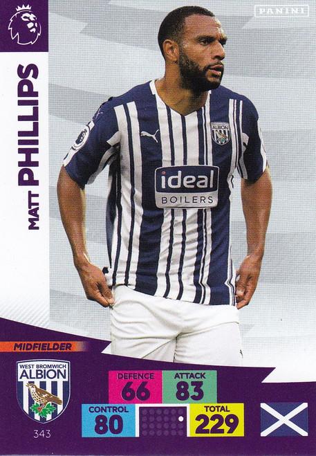 #343 Matt Phillips (West Bromwich Albion) Adrenalyn XL Premier League 2020/21
