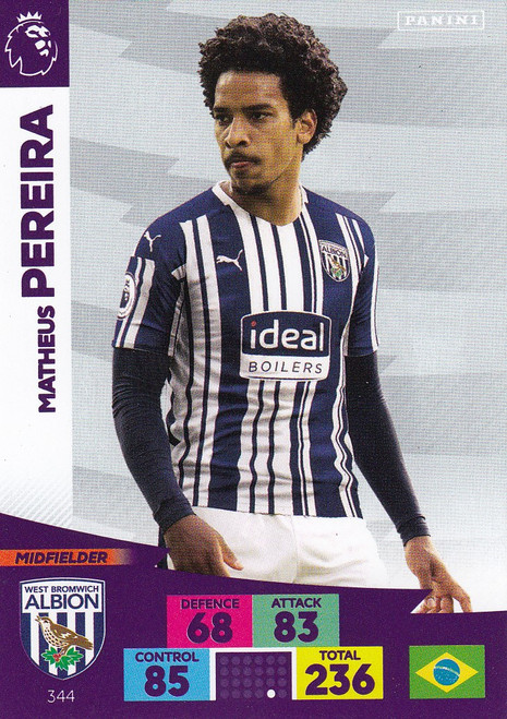 #344 Matheus Pereira (West Bromwich Albion) Adrenalyn XL Premier League 2020/21