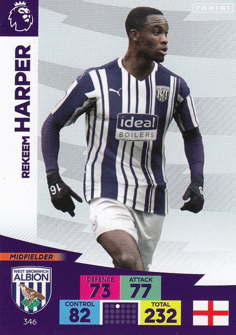 #346 Rekeem Harper (West Bromwich Albion) Adrenalyn XL Premier League 2020/21