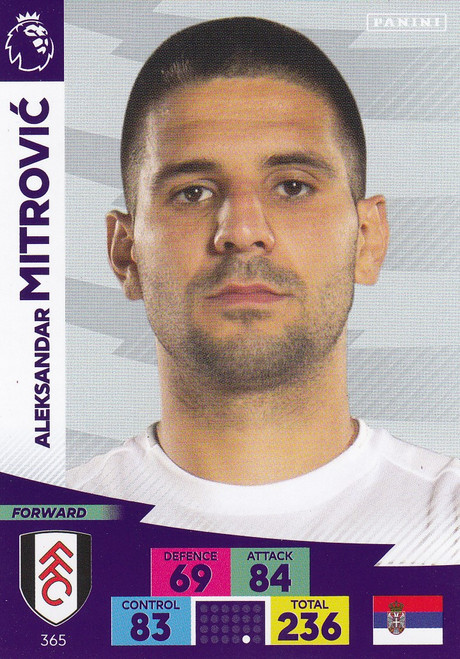 #365 Aleksandar Mitrovic (Fulham) Adrenalyn XL Premier League 2020/21