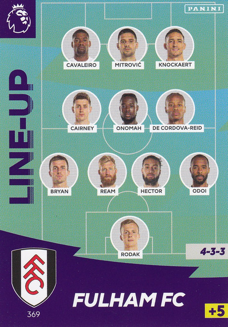 #369 Line Up (Fulham) Adrenalyn XL Premier League 2020/21