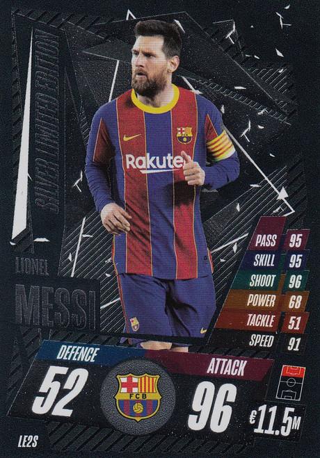 #LE2S Lionel Messi (FC Barcelona) Match Attax Champions League 2020/21 SILVER LIMITED EDITION