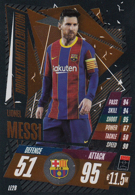 #LE2B Lionel Messi (FC Barcelona) Match Attax Champions League 2020/21 BRONZE LIMITED EDITION