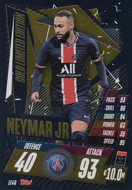 #LE4G Neymar Jr (Paris Saint-Germain) Match Attax Champions League 2020/21 GOLD LIMITED EDITION