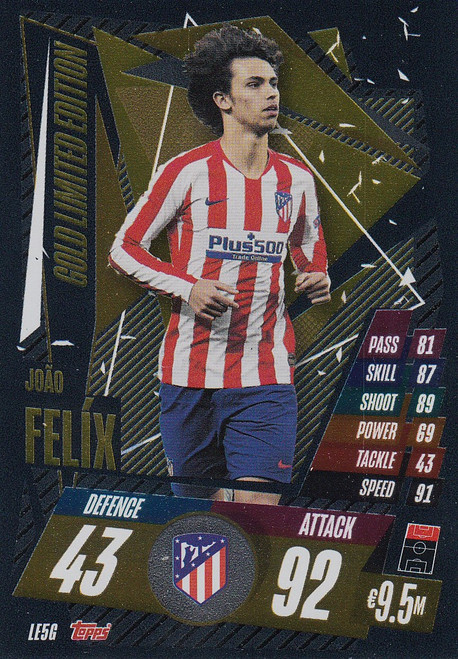 #LE5G Joao Felix (Atletico De Madrid) Match Attax Champions League 2020/21 GOLD LIMITED EDITION